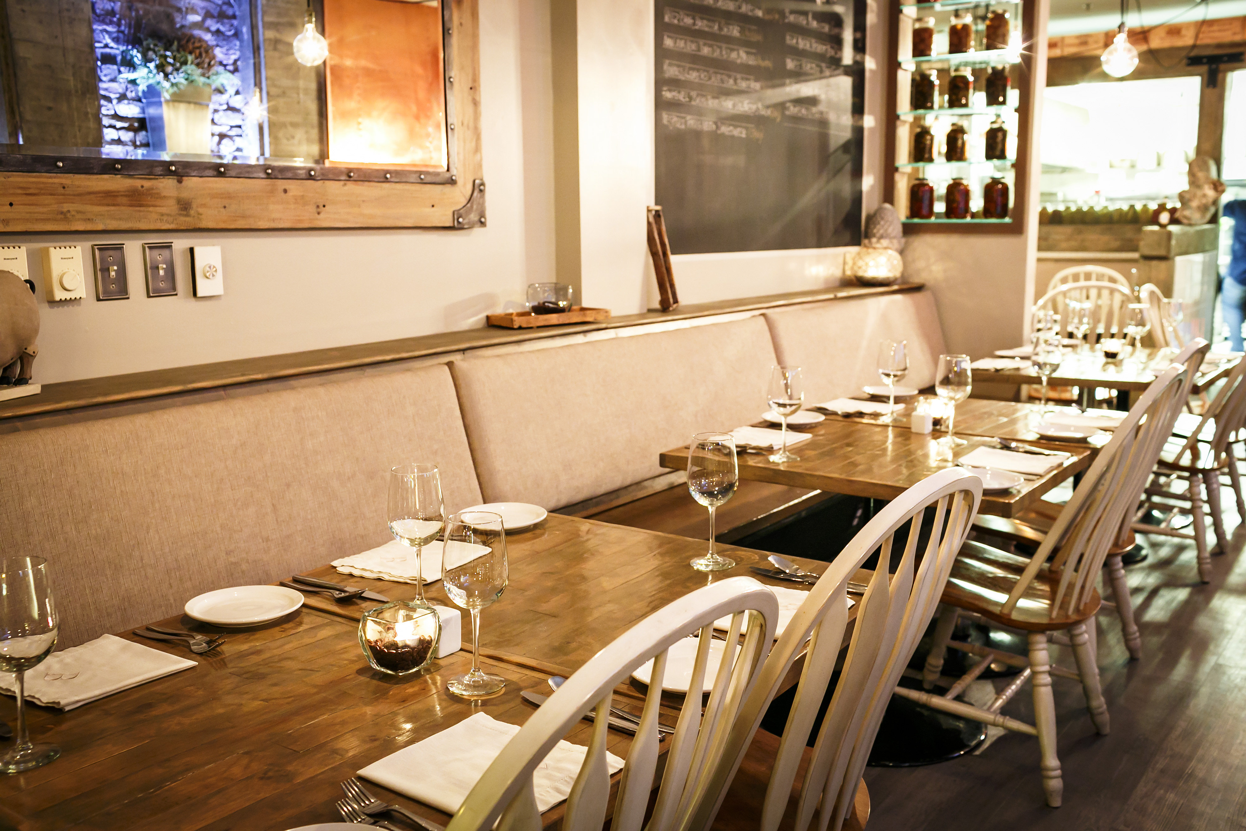 Our Recently Renovated Main Dining Room Banquette Seating For Groups Up To 16